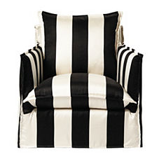 Sundial Chair – Black/Ivory Awning Stripe