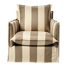 Sundial Chair – Khaki/Natural Awning Stripe