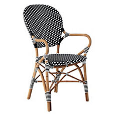 Riviera Arm Chair – Black