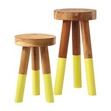Dip Dyed Stools – Citrine
