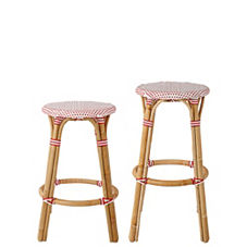 Riviera Backless Stools – Poppy