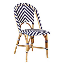 Chevron Riviera Side Chair – Navy