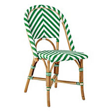 Chevron Riviera Side Chair – Kelly Green