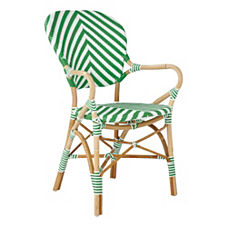 Chevron Riviera Armchair – Kelly Green