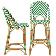 Chevron Riviera Stools – Kelly Green