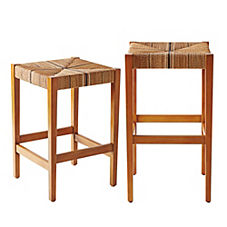 Carson Backless Stools — Natural