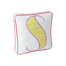 Schoolhouse Letter Pillow – Citrine/Grape