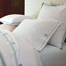 Border Frame Duvet Cover & Shams – Aqua