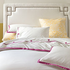 Border Frame Duvet Cover & Shams – Berry