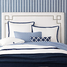 Navy Border Frame Duvet & Shams