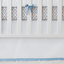 Nursery Basics Crib Skirt – Chambray