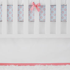 Nursery Basics Crib Skirt – Punch