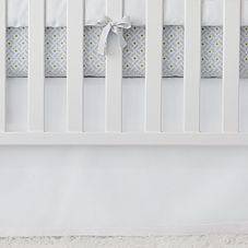 White Basics Crib Skirt