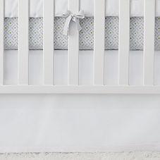 Nursery Basics Crib Skirt – White