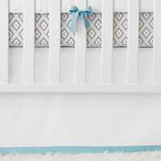 Nursery Basics Crib Skirt – Aqua
