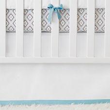 Nursery Basics Crib Skirt – Aqua