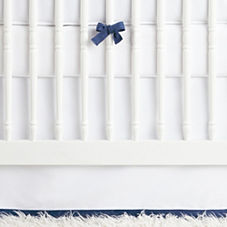 Nursery Basics Crib Skirt – Navy