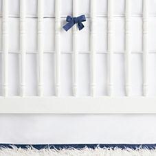 Nursery Basics Crib Skirt – Navy