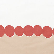 Deep Coral Deco Dot Pillowcases