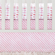 Shell Candy Stripe Crib Skirt