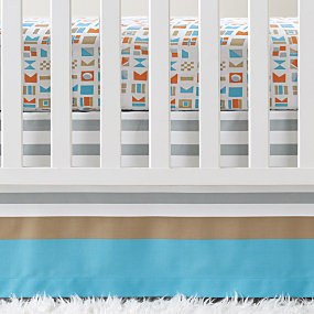 Nautical Flag Crib Skirt