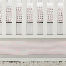 Shell Yacht Stripe Crib Skirt