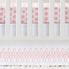 Swirl Appliqué Crib Skirt