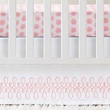 Swirl Appliqué Crib Skirt