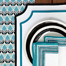 Cadiz Table Linens - Turquoise (Set of 4)