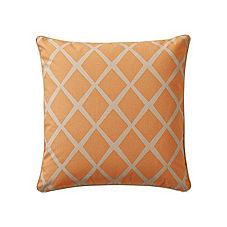 Saffron/Putty Diamond Pillow Cover