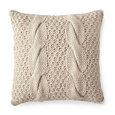 Alicia Adams Alpaca Chunky Knit Pillow Cover – Ivory