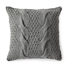 Alicia Adams Alpaca Chunky Knit Pillow Cover – Heathered Grey