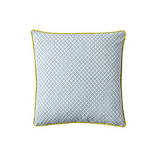 Cut Circle Pillow Cover – Aqua