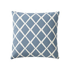 Diamond Pillow Cover – Chambray