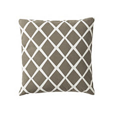 Diamond Pillow Cover – Pewter