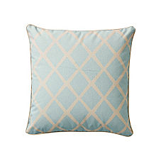Turquoise/Putty Diamond Pillow Cover