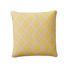 Mustard/Putty Diamond Pillow Cover