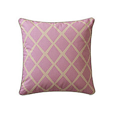 Diamond Pillow Cover – Plum/Putty