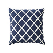 Diamond Pillow Cover – Navy