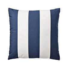 Awning Stripe Pillow Cover – Navy