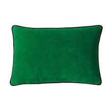 Suede Lumbar Pillow Cover – Malachite