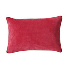 Suede Lumbar Pillow Cover – Fuchsia