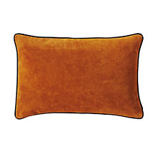Suede Lumbar Pillow Cover – Camel