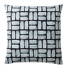 Painted Basketweave Pillow Cover – Inkwell Blue