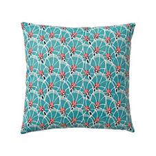 Palm Leaf Pillow Cover – Teal