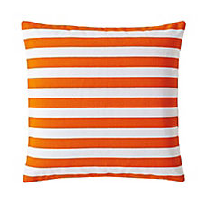 Classic Stripe Pillow Cover – Tangerine