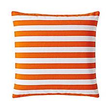 Classic Stripe Pillow Cover – Tangerine