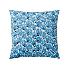 Palm Leaf Pillow Cover – Harbor Blue