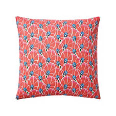 Palm Leaf Pillow Cover – Bright Coral