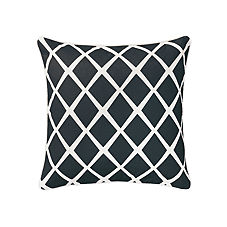 Diamond Pillow Cover – Black